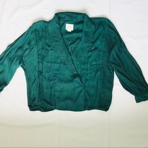 Anthropologie Maeve Green Blouse - Size S